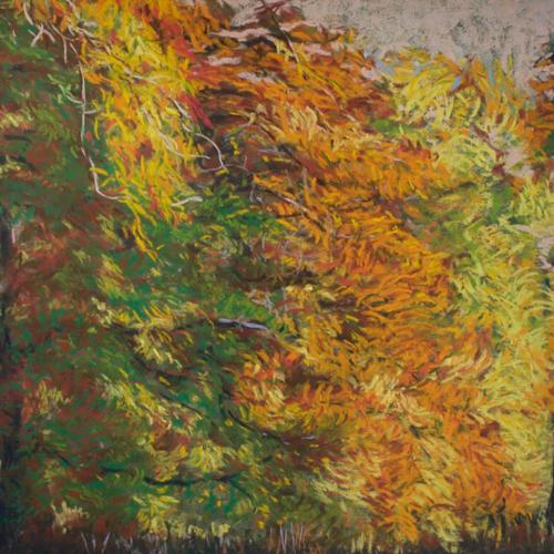 A Fall Symphony, Soft Pastel, 24 x 18