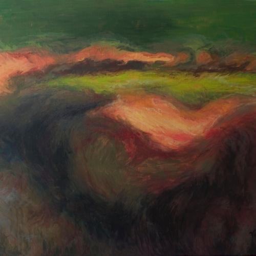 A Fiery Meadow, Acrylic, 24 x 30