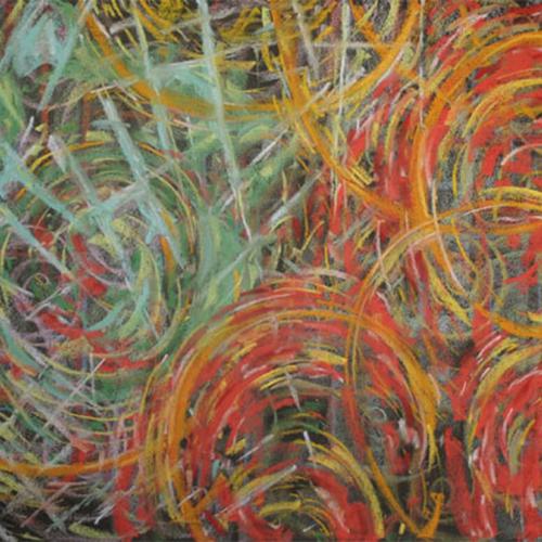 Circular Dance, Soft Pastel, 24 x 18