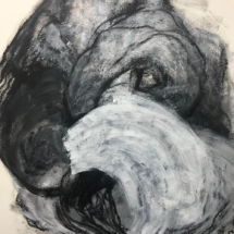 Curled Up, Mixed Media, 24 x 18