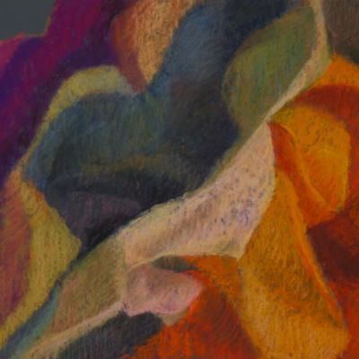 Deep Folds, Soft Pastel, 16 x 12