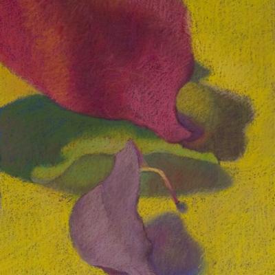 Fall Leaves, Soft Pastel, 16 x 12