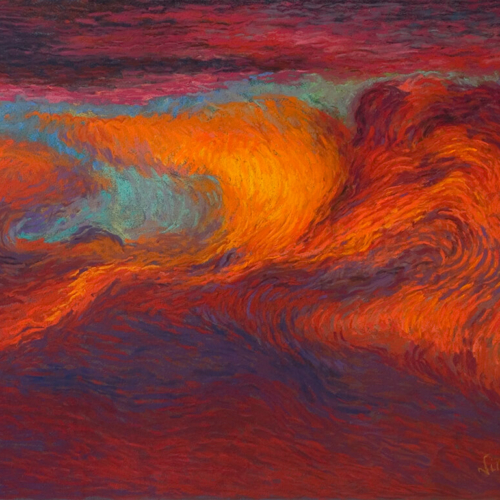 Fire in the Sky, Soft Pastel, 25.5 x 19.5