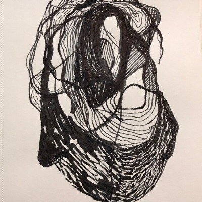 Made of Strings, Ink Drawing, 8.5 x 5.5