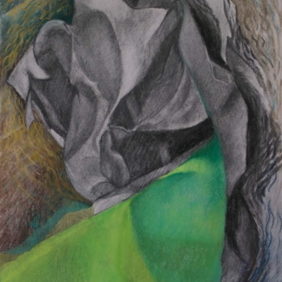 Paradox, Soft Pastel and Charcoal, 24 x 18