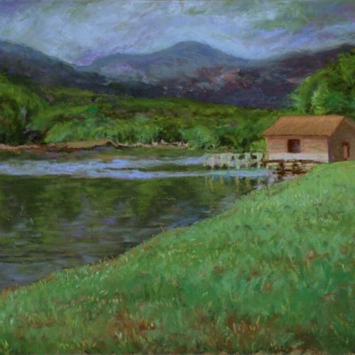 View of Lake Lure, Soft Pastel